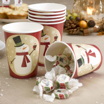 Let It Snow - Snowman Paper Cups (8)